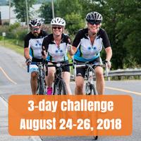 three day challenge, August 24-26 2018